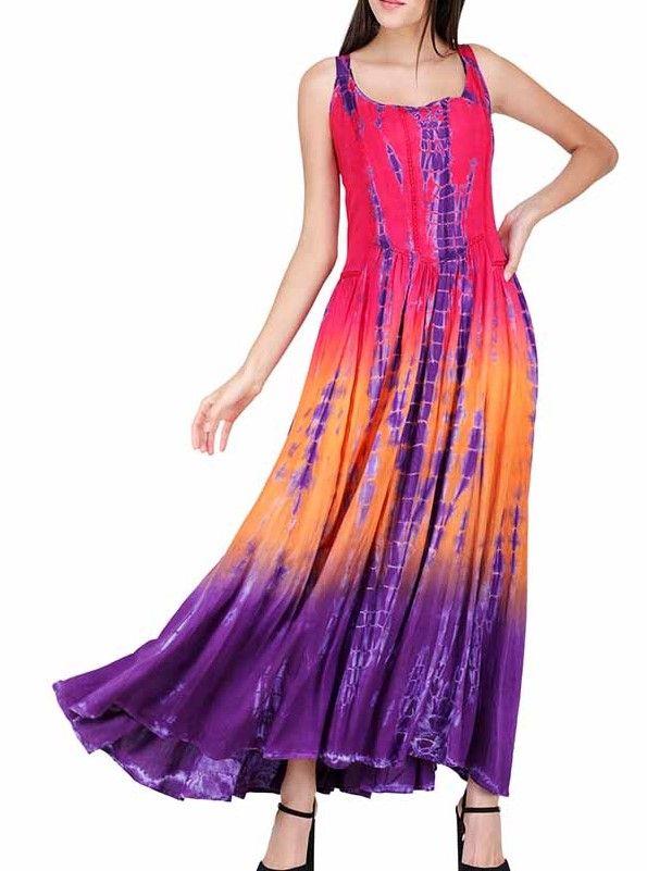 Dreamy rainbow maxi dress