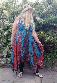 Beautiful  pixie hem  Annie dress [4 SIZES UP TO plus size]