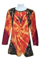 gringo fairtrade long sleeve applique dress