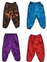 Subtle dye plus size high harem trousers