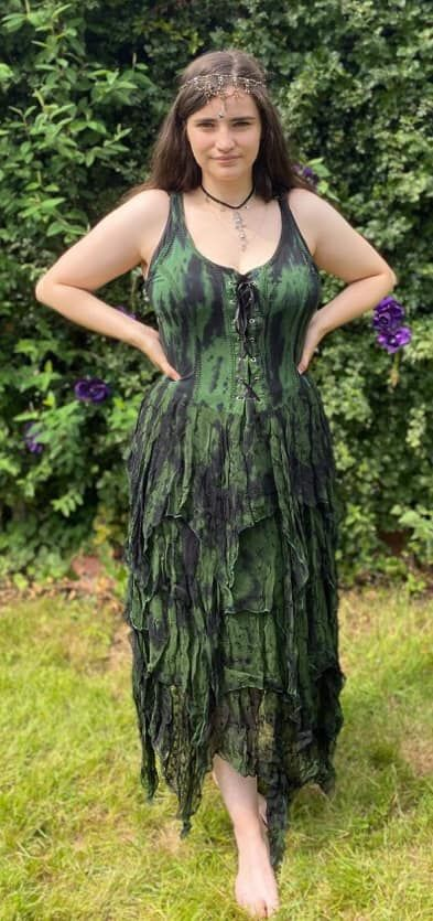 Forest fae goddess dress [plus size]