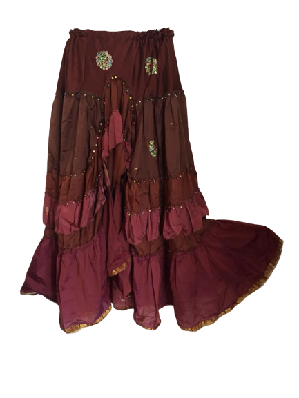 Gorgeous gypsy belly dance skirt