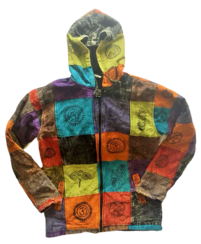Funky fleece lined hippy jacket