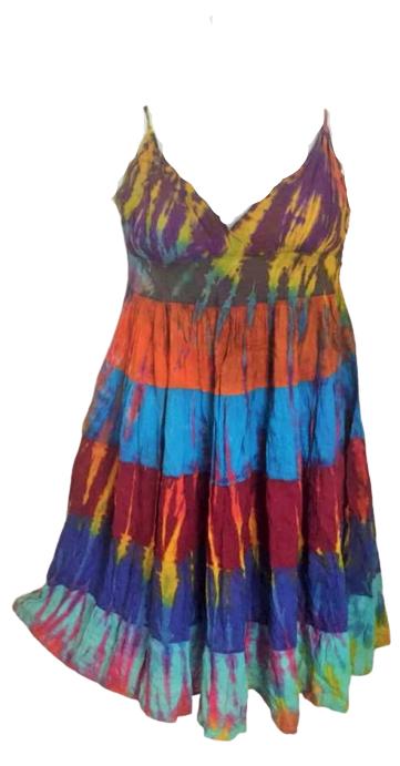 Tie dye layered strappy dress