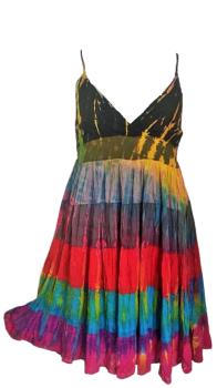Tie dye layered strappy DINA dress