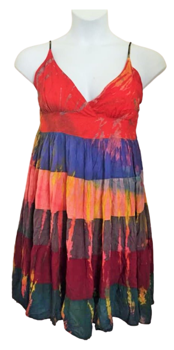 Tie dye layered strappy dress