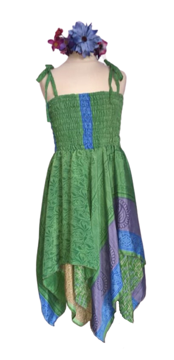 Faery pixie hem summer  dress ,approx age 8-12