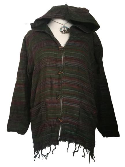 Snuggly warm pixie hood hippy jacket