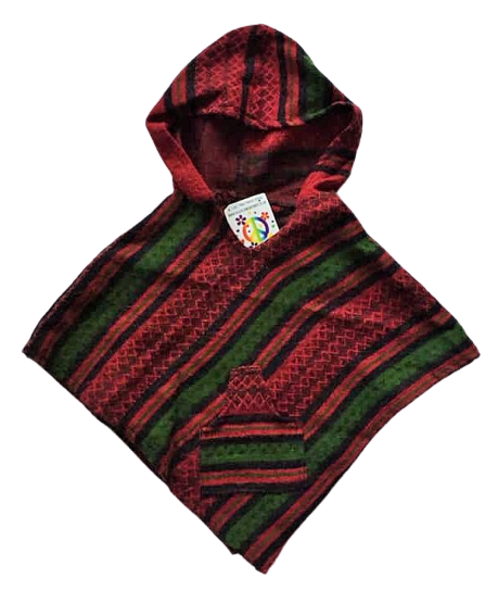 Childrens funky hippy poncho approx age 1-2