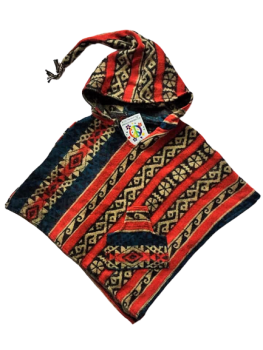 Childrens funky hippy poncho approx age 3-5 years