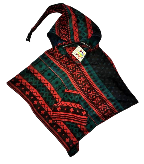 Childrens funky hippy poncho approx age 5-6