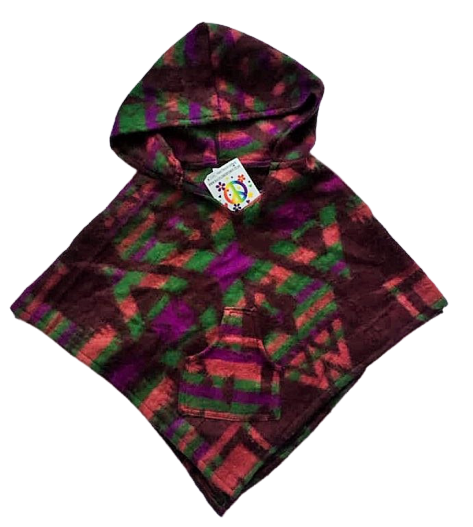 Childrens funky hippy poncho approx age 2-3 years