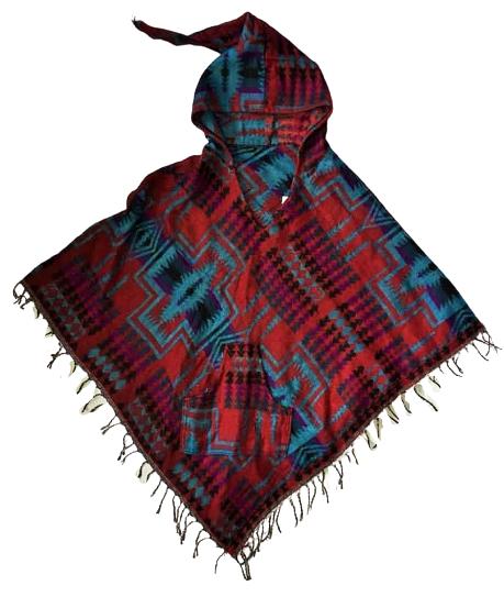Snuggly warm cashmillon pixie hood poncho