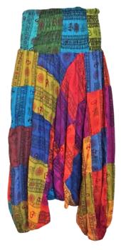 Hippy patchwork harem trousers