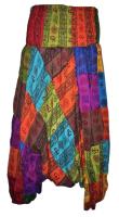 Hippy patchwork harem trousers