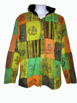 Earthy colours fleece lined jacket