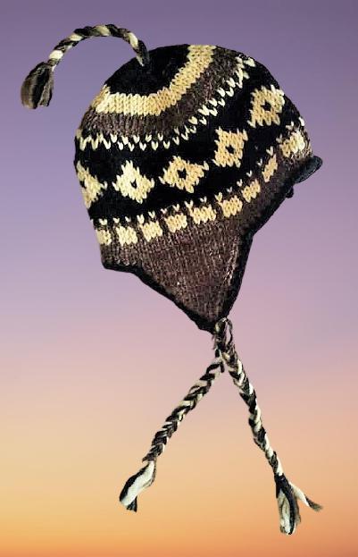 Snuggly fully fleece lined hippie wool hat