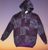 Hippie patchwork hoody top