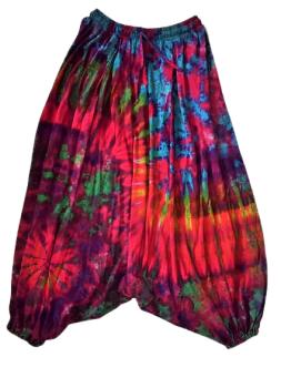 Tie dye hippie harem trousers