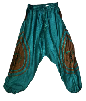 Stone washed Nate harem trousers