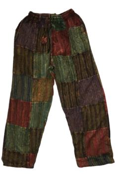 Unisex patchwork trousers