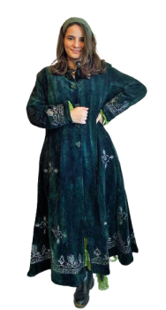 Ethnic embroidered ,long mirrored  jacket