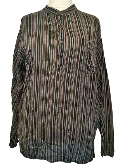 Cotton grandad shirt