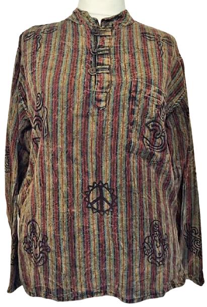 Cotton grandad shirt [size   Large ]
