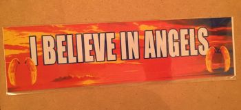 Fun bumper sticker, I believe in Angels