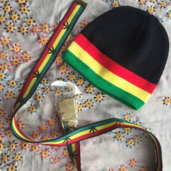 Rasta style hat and belt