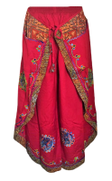 Faux Thai pants with applique designs