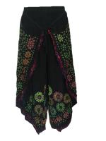 Faux Thai pants with batik print designs and shisha mirrors