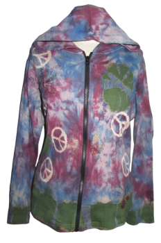 Gringo lovely tie dye peace hoody sizes 16 and 22/24 available