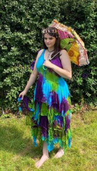 Whimsical  fae goddess dress [plus size]