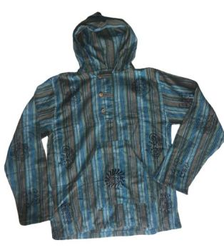 Hooded hippy shirt [chest approx 42 inches]