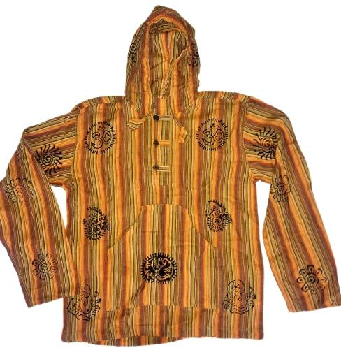 Hooded hippy shirt [chest approx 40 inches]