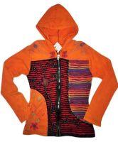 Razor cut and applique hippy hoody