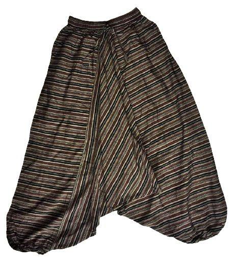 Earthy harem trousers