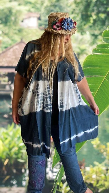 Tie dye cover over Millie  top