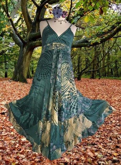 Strappy bohemian Leandra floaty dress