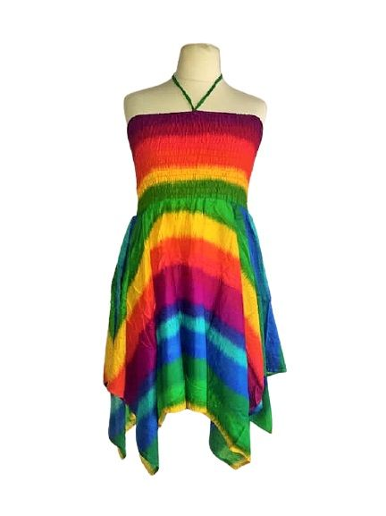 Gorgeous rainbow pixie dress