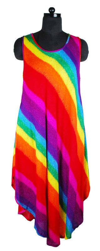 Lovely rainbow umbrella dress