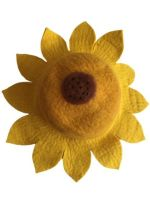 Summer fun sunflower  felt hat