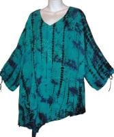 Gorgeous asymmetric tie dye top from RAPP