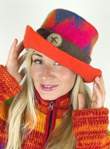 Funky felt top hat