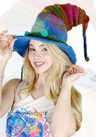 Whimsical witchy  felt hat