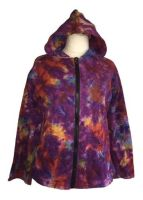 Super snuggly funky tie dye hoody plus size