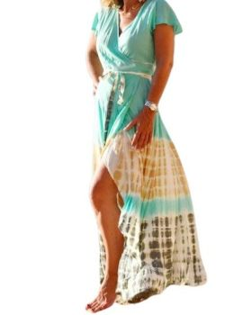 Tie dye wrap over Florence dress or wear as a throw