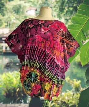 Tie dye stretchy Gina top
