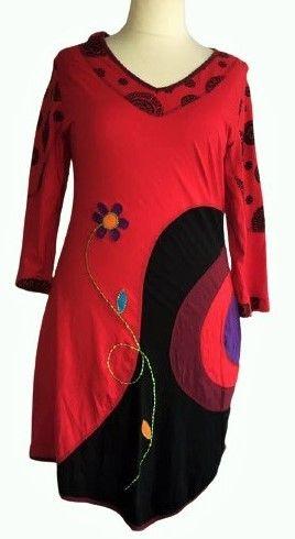 Flower applique  dress size 20